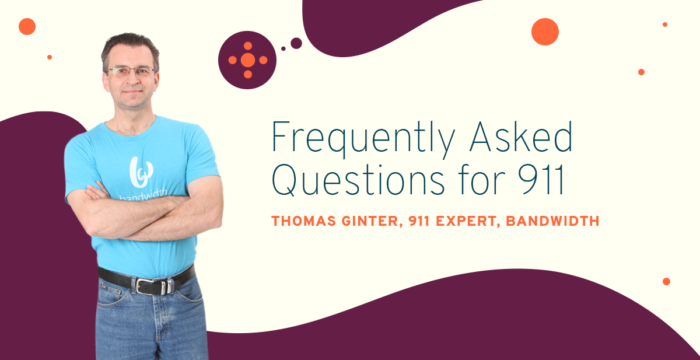 Image of Thomas Ginter answering frequently asked 911 questions