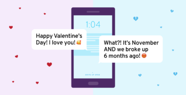 Image for a blog on valentine's day texts not being delivered