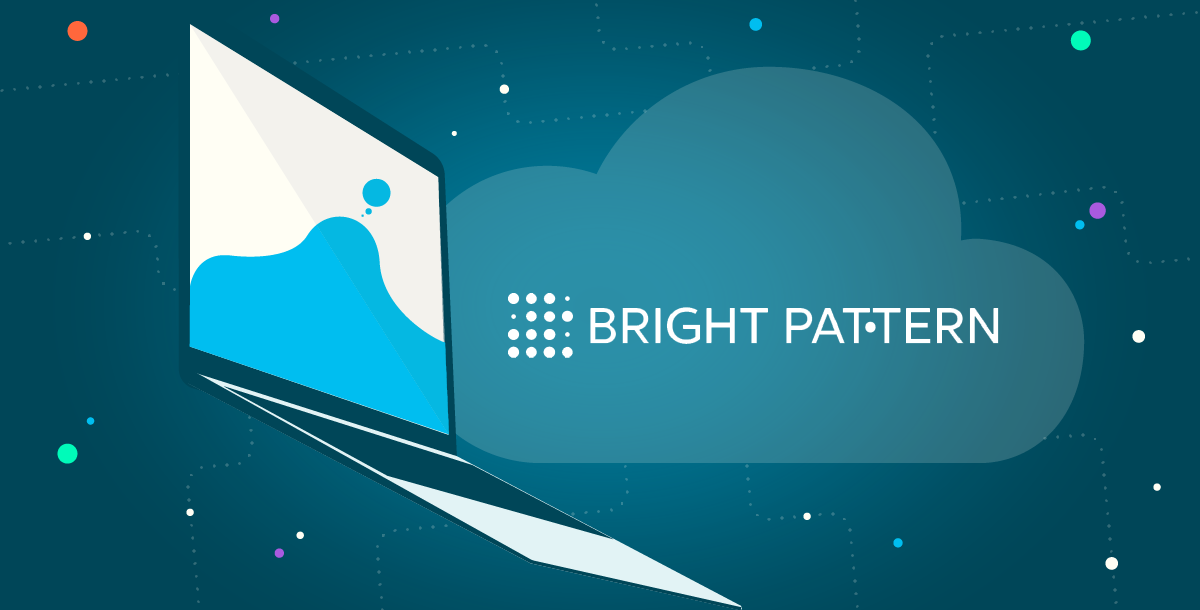 Image for a blog post from Bright Pattern about cloud computing